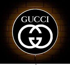 GUCCI LOGO BADGE SHOP SIGN LED LIGHT BOX GAMES ROOM DESIGNER BELT WALLET HANDBAG