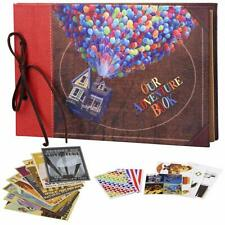 Our Adventure Book, Leather Cover with Balloon House, 11.6 x 7.5 inch, 60 Pages
