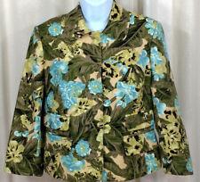 Ann Taylor Loft Ladies Blazer Jacket Size 6 Floral Print Womens Fashion Casual