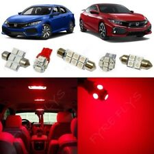 8x Red LED Interior Lights package kit for 2016-2018 Honda Civic +Tool HC5R