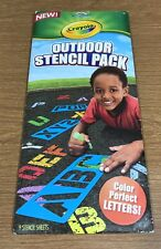 Crayola Outdoor Stencil Pack Color Perfect Numbers & Symbols Sidewalk Stencils