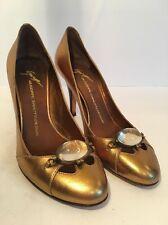 GIUSEPPE ZANOTTI  Metallic Leather Shoes, EU 37 1/2 US