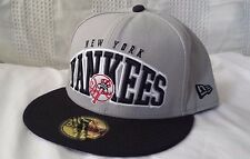 NEW YORK YANKEES New Era 59FIFTY High Heat GRAY fitted 7 3/4 hat (RARE mens cap)