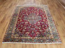 Traditional Vintage Wool Handmade Classic Oriental Area Rug Carpet 192X 128cm