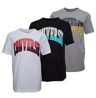 Boys Converse Short Sleeve Top Printed Cotton T Shirt Sizes Age from 8 to 15 Yrs