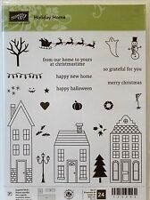 Stampin Up HOLIDAY HOME stamps Christmas Halloween House Only 1 Used