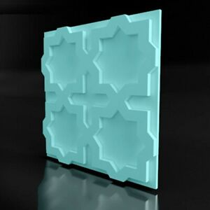 *STARS* 3D Mold for Decorative Wall Stone Panels Form Plastic mold for Plaster