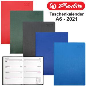 Herlitz Taschenkalender 2021 Folie DIN A6 Timer Buchkalender 1 Woche 2 Seiten