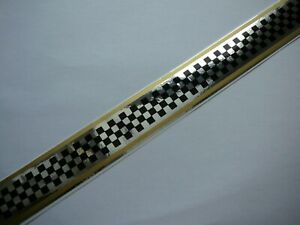 Jawa CZ Cezet  tank checkered stripe decal gold