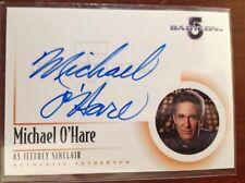 Babylon 5 Michael O'Hareas Jeffrey Sinclair Autograph Card A1