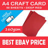 50 Sheets A4 Deep Intensive Red Craft Card 160gsm Smooth Hobby Printer