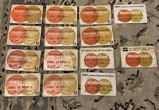 Vintage Master Card Credit Cards 1972-1986 Missing 1985