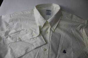 NWT Men's BROOKS BROTHERS Regent 1818 White Button Down Dress Shirt size Large