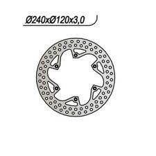 DISCO FRENO ANT. NG 733 91 HUSQVARNA TE (8AE00) 610 65.9733 24013512036