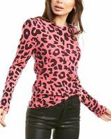 White + Warren Leopard Cashmere Sweater Women's