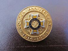 Vintage Auxiliary VFW Golden Anniversary 1914-1964 Pin