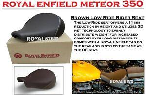 "100% Genuine Royal Enfield METEOR 350 ""LOW RIDE RIDER SEAT, BROWN"""