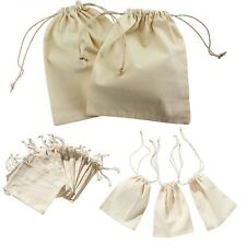12pc Linen Bags Mini Drawstring  Packing Pouch Bag 10x15cm Incense Storage