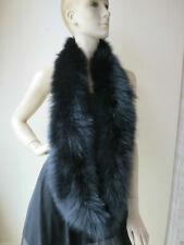 Winter Elegant soft women's Real fox fur knitted  neckerchief scarf  black