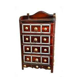 Organizer Wooden 4 Rack Drawers Storage Cabinet For Living Room Home Office