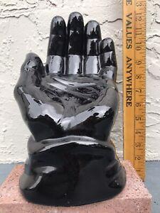 Black Hand Ceramic Sculpture