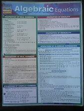 Barcharts Algebraic Equations Quick Study Guide