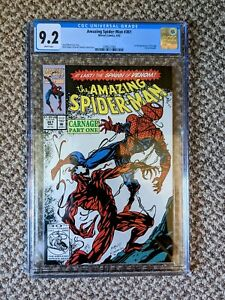 Amazing Spider-Man #361 CGC 9.2 White Pages 1st App Carnage