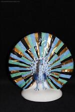 OFFERTA Herend porcelain figurine PAVONE Bird naturale blu rosso verde arcobaleno
