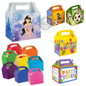 Liso Colorido Cajas Fiesta 14 Colores Cumpleaños Almuerzo Regalos Bolsas de Boda