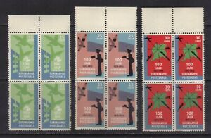 stamps  Suriname   mnh set SC#408-10 in block of 4