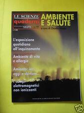 LE SCIENZE QUADERNI N°109 AMBIENTE E SALUTE SETTEMBRE 1999