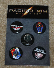 SDCC 2012 EXCLUSIVE PACIFIC RIM BUTTONS BRAND NEW