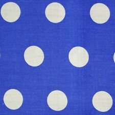 MID BLU cotone bianco a pois tessuto Spot * AL METRO