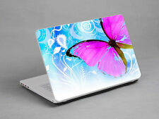 LAPTOP NOTEBOOK SKIN STICKER COVER DECO BUTTERFLY PINK BLUE HP DELL 15.4 inch