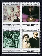 Turks & Caicos 40th Ann. of Coronation SG 1196/99 MNH