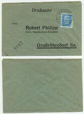 83236 - Beleg Staatslotterie - Bischheim-Gersdorf 2.11.1931 nach Großröhrsdorf