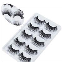 5 Pairs Soft Makeup False Eyelashes Long Thick Natural Eye Lashes Extension US