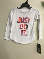 New With Tag Baby Girls Nike Graphic Long Sleeves Tee Size 2T