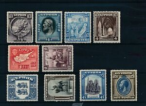 [56340] Cyprus 1928 Very good set MH Very Fine stamps $350