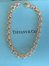 Tiffany & Co 18K Yellow Gold Oval Round Link Bracelet 7.25 Inch RARE 18 Grams