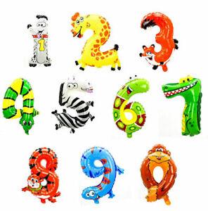 Aufblasbare Zahlen von 0 bis 9 wählbar 2 Farben Deko Geburtstag Party 35 cm