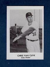 1955 Oakland Oaks PCL commemorative card: CHRIS VAN CUYK (1975 Doug McWilliams)