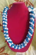Hawaiian Rattail Ribbon Lei Graduation Wedding Anniversary Special Gift Handmade