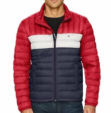 Tommy Hilfiger Mens Packable Puffer Down Jacket - Red...