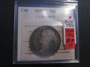 Canada Fifty Cent 1871. ICCS