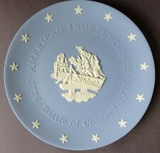 Wedgwood Jasperware 1976 American Independence Plate: 1776 Battle of Concord