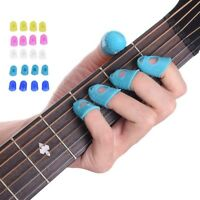 12PCS Guitar Finger Picks Thumb Bass Silicone Protector Plectrum Band Send AU