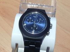 Swiss Made SWATCH fULL bLOOD aLUMINIUM Chrono Date 4Jewel Watch Ex-Display BOXED