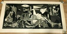 """mid century 1964  PICASSO GUERNICA ART PRINT Smeets / Minerva  54 x 27""""  Large"""