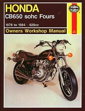 Haynes M665 Service & Repair Manual for 1979-82 Honda CB650 sohc Fours 626cc